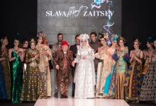 Показ коллекции Slava Zaitsev в рамках Mercedes-Benz Fashion Week